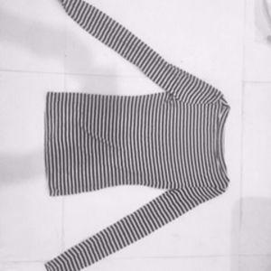 NEW Anthropologie striped black & white